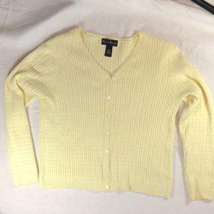Mercer & Madison Pale Yellow Cardigan Size M